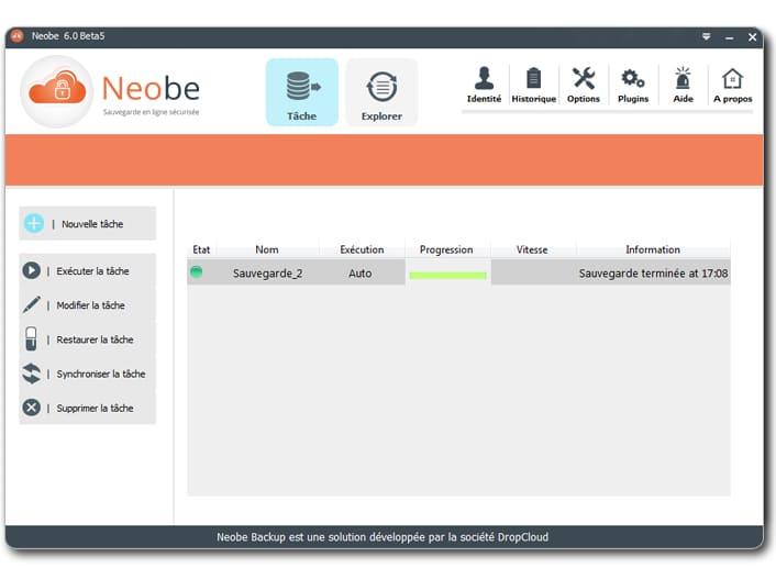 sauvegarde en ligne des données professionnelles NeoBe Backup Cloud