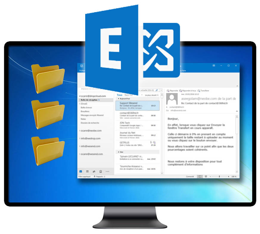 Envoyer gros fichiers avec exchange